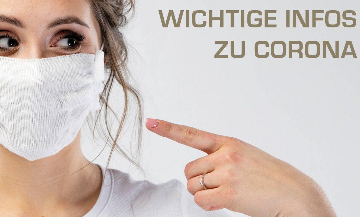 Frau mit Maske - Wichtige Infos zu Corona